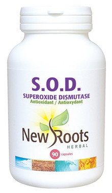 New Roots S.O.D. 160,000 IU per Capsule, 90 Capsules | NutriFarm.ca