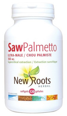 New Roots Saw Palmetto Ultra-Male 160 mg, 120 Softgels | NutriFarm.ca