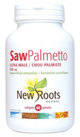 New Roots Saw Palmetto Ultra-Male 160 mg, 60 Softgels | NutriFarm.ca
