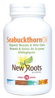 New Roots Seabuckthorn Oil Certified Organic 1040 mg, 30 Softgels | NutriFarm.ca
