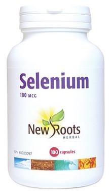New Roots Selenium 100 mcg, 100 Capsules | NutriFarm.ca