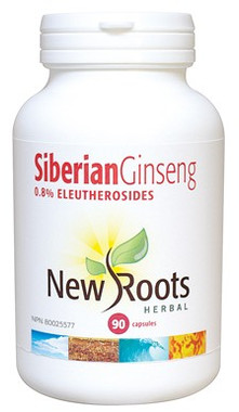 New Roots Siberian Ginseng, 90 Capsules | NutriFarm.ca