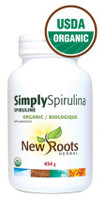 New Roots Simply Spirulina Certified Organic, 454 g | NutriFarm.ca