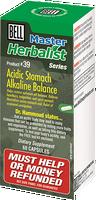 Bell Acidic Stomach/Alkaline Balance 646 mg, 60 Capsules | NutriFarm.ca