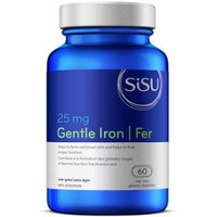 SISU Gentle Iron 25 mg, 60 Vegetable Capsules | NutriFarm.ca