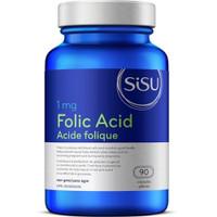 SISU Folic Acid 1 mg, 90 Capsules | NutriFarm.ca