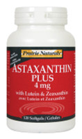 Prairie Naturals Astaxanthin Plus 4mg with Lutein & Zeaxanthin, 120 Softgels | NutriFarm.ca