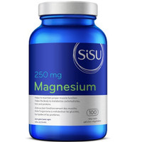 SISU Magnesium 250 mg, 100 Vegetable Capsules | NutriFarm.ca