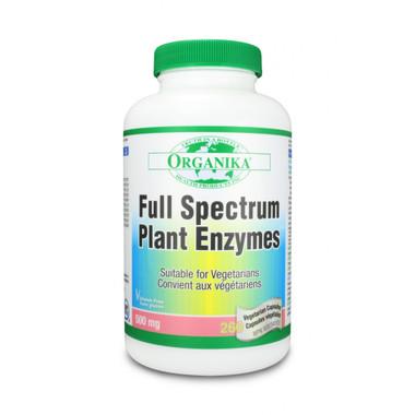 Organika Full Spectrum Plant Enzymes, 260 Vegetable Capsules | NutriFarm.ca
