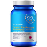 SISU Cold & Flu Rescue for Kids with Ester-C, 60 Chewable Tablets | NutriFarm.ca