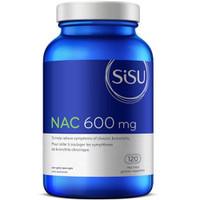 SISU NAC 600 mg, 120 Vegetable Capsules | NutriFarm.ca