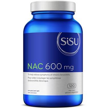 SISU NAC 600 mg, 120 Vegetable Capsules   NutriFarm.ca