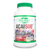 Organika ACAI 500 20mg, 180 Vegetable Capsules | NutriFarm.ca