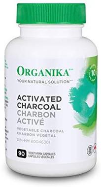 Organika Activated Charcoal, 90 Vegetable Capsules   NutriFarm.ca