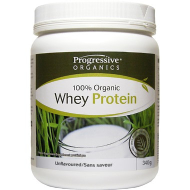 Progressive Organic Whey Protein Unflavoured, 340 g   NutriFarm.ca