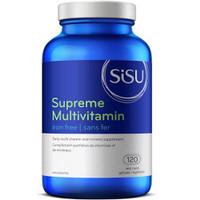 SISU Supreme Multivitamin (Iron Free), 120 Vegetable Capsules | NutriFarm.ca