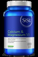 SISU Calcium & Magnesium 1:1, 200 Capsules | NutriFarm.ca