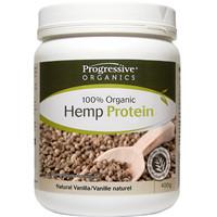 Progressive Organic Hemp Protein Natural Vanilla, 400 g | NutriFarm.ca