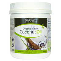 Progressive Organic Virgin Coconut Oil Unflavoured, 454 g | NutriFarm.ca