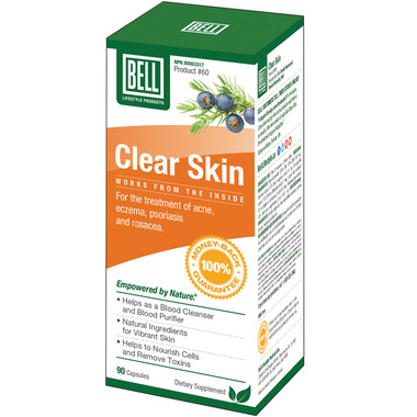 Bell Clear Skin For Disorders 570 mg, 90 Capsules | NutriFarm.ca