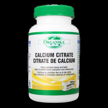 Organika Calcium Citrate, 90 Tablets   NutriFarm.ca