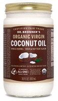 Dr. bronner's Whole Kernel Organic Virgin Coconut Oil, 887 ml | NutriFarm.ca