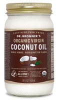 Dr. bronner's Whole Kernel Organic Virgin Coconut Oil, 414 ml | NutriFarm.ca