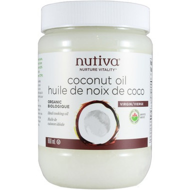 Nutiva Organic Coconut Oil, 860 ml   NutriFarm.ca