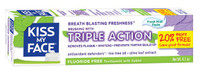 Kiss My Face Triple Action Fresh Mint Paste, 116.2 g