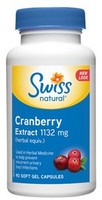 Swiss Natural Cranberry Extract 1132mg, 90 Softgels | NutriFarm.ca