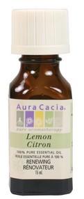 Aura Cacia Lemon Oil, 15 ml | NutriFarm.ca