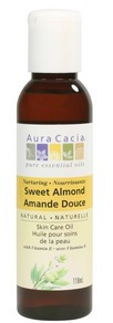 Aura Cacia Sweet Almond Pure Skin Care Oil, 118 ml | NutriFarm.ca