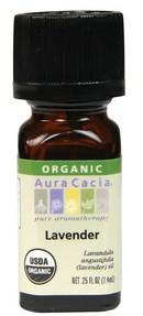 Aura Cacia Lavender Organic Essential Oil, 7.4 ml | NutriFarm.ca