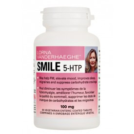 Lorna Vanderhaeghe Smile 5-HTP, 60 Enteric-Coated Tablets | NutriFarm.ca