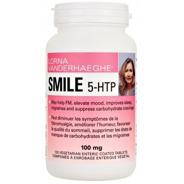 Lorna Vanderhaeghe Smile 5-HTP, 120 Enteric-Coated Tablets | NutriFarm.ca