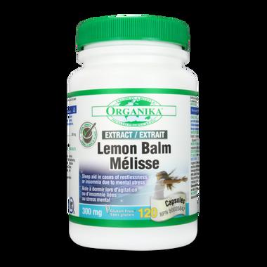Organika Lemon Balm Extract 300 mg, 120 Capsules | NutriFarm.ca