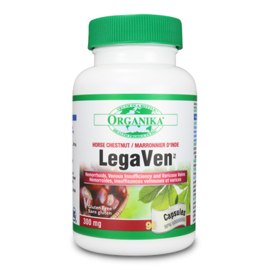 Organika LegaVen 300 mg, 90 Capsules   NutriFarm.ca