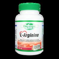 Organika L-Arginine, 90 Vegetable Capsules | NutriFarm.ca