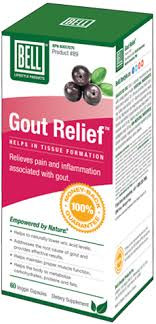 Bell Lifestyle Gout Relief, 60 Capsules | NutriFarm.ca