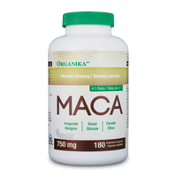 Organika Maca 750 mg, 180 Vegetable Capsules | NutriFarm.ca
