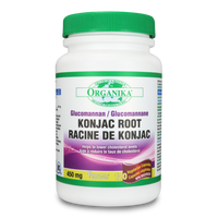 Organika Konjac Root Glucomannan 450 mg, 120 Vegetable Capsules | NutriFarm.ca