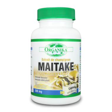 Organika Maitake Mushroom Extract 200 mg, 90 Capsules | NutriFarm.ca