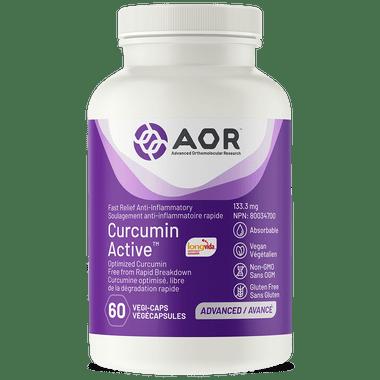 AOR Curcumin Active, 60 Vegetable Capsules | NutriFarm.ca