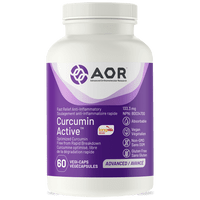 AOR Curcumin Active, 60 Vegetable Capsules | NutriFarm.ca