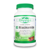 Organika Vitamin B3 (Niacinamide), 90 Capsules | NutriFarm.ca