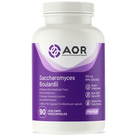 AOR Saccharomyces Boulardii 250 mg, 90 Vegetable Capsules | NutriFarm.ca