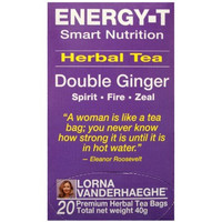 Lorna Vanderhaeghe ENERGY-T Herbal Tea, 20 Tea Bags