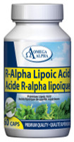 Omega Alpha R-Alpha Lipoic Acid, 60 Vegetable Capsules | Nutrifarm.ca