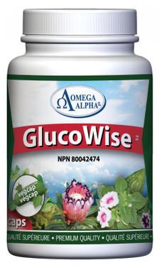 Omega Alpha GlucoWise, 90 Vegetable Capsules | NutriFarm.ca