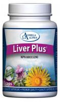 Omega Alpha Liver Plus, 90 Vegetable Capsules | Nutrifarm.ca